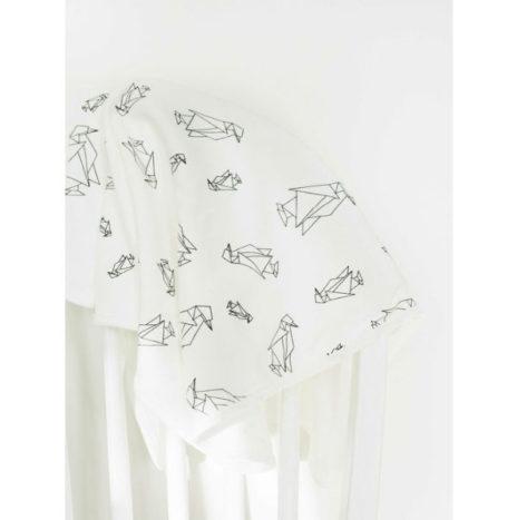 HET LAATSTE Babydeken pinguin print 60×70 biokatoen