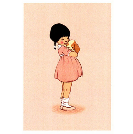 Belle en Boo Puppy love wenskaart enkel