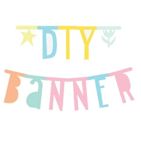 DIY Letter banner pastel karton