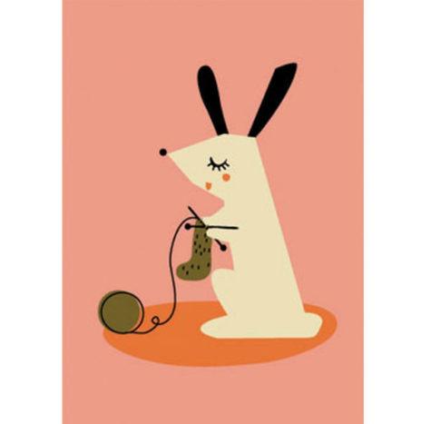 Darling Clementine hond wenskaart enkel