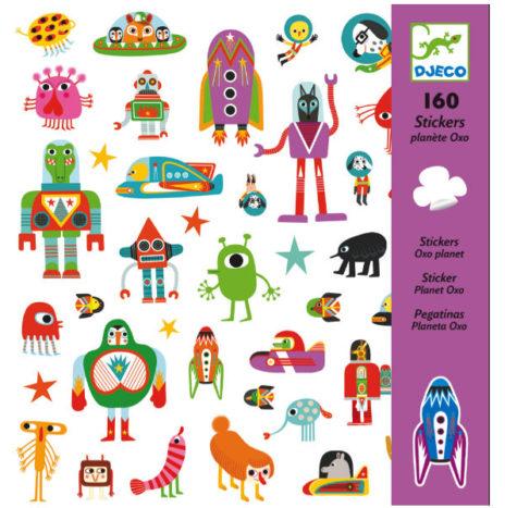 Djeco Planeet Oxo stickers 160 stuks 6j