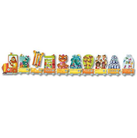 Djeco puzzel trein tellen 3j