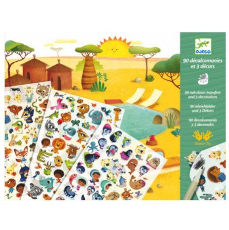 Djeco krasplaatjes Savanne 4-8j