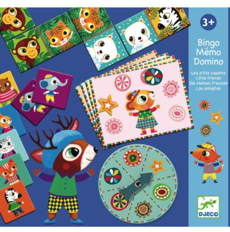 Djeco memory bingo domino set 3j