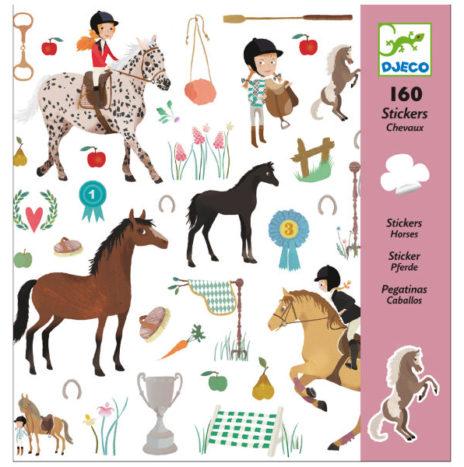 Djeco paard stickers 160 stuks