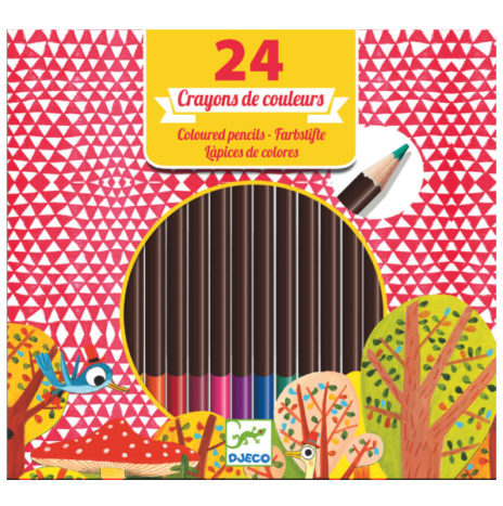 Djeco set 24 kleur potloden 6j