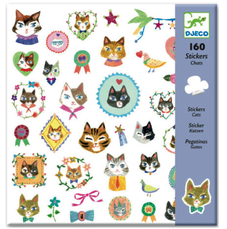 Djeco set poes stickers 160 stuks