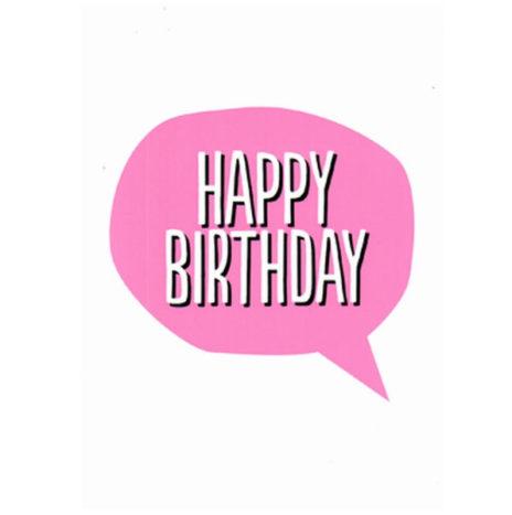 Happy Birthday wenskaart enkel
