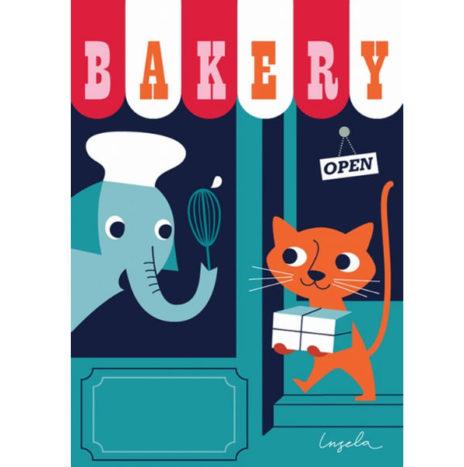 Ingela Bakery wenskaart dubbel