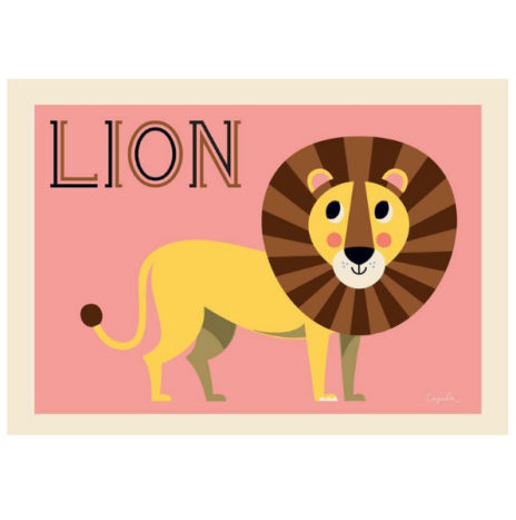Ingela Friendly Lion poster 50 x 70