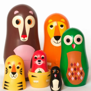 Kidsdinge Ingela nesting dolls animal