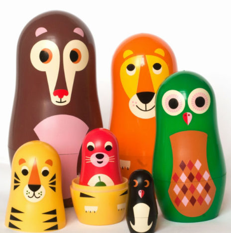 Ingela nesting dolls animal