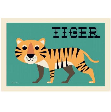 Ingela nieuwsgierige tijger poster 50×70