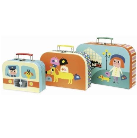 Ingela Set 3 koffertjes Parijs