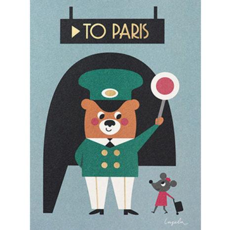 Ingela To Paris wenskaart dubbel 12×17