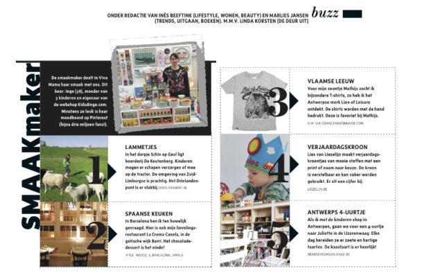 Juni 2015 Viva mama magazine Smaakmaker van de maand Nederland
