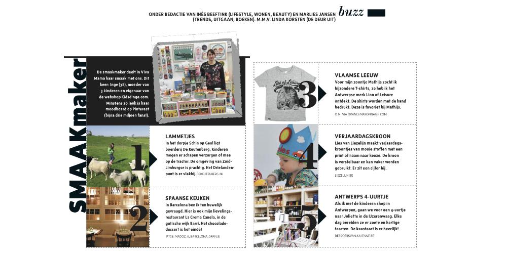 Kidsdinge Juni 2015 Viva mama magazine Smaakmaker vd maand NL