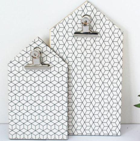 Het LAATSTE Klembord home cube print hout 16 x 28