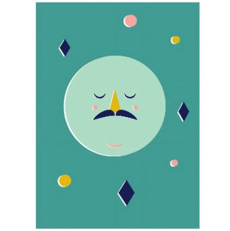 Moon poster confetti 50×70
