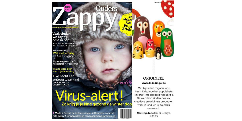 November 2015 Zappy Ouders magazine BE