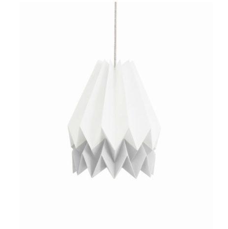 Origami lamp wit grijs