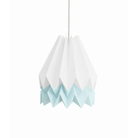 Origami lamp wit lichtblauw