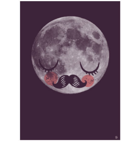 Poster Moon fur Neil Armstrong 50×70