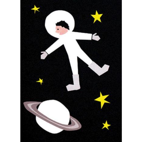 Spaceman wenskaart dubbel 12×17