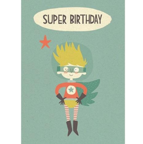 Super Birthday wenskaart dubbel