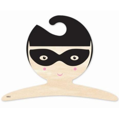 Superhero girl kapstok hout 20x27cm