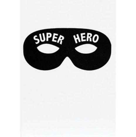 Superhero letterpress wenskaart dubbel 12×17