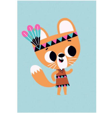 Tiago Americo poster squirrel 50×70