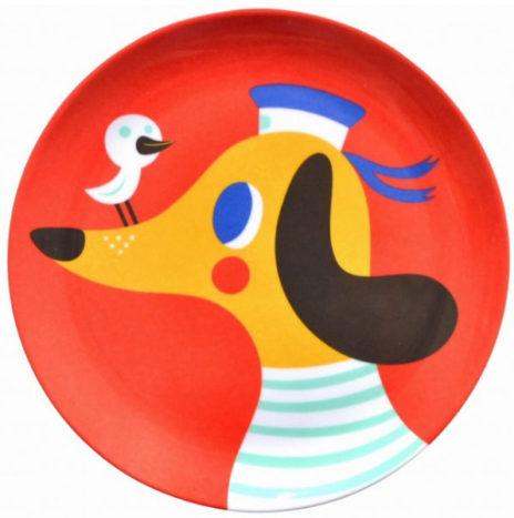 Helen Dardik hond eetbord melamine