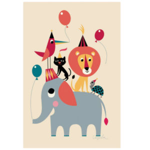 Kidsdinge ingela animal party poster