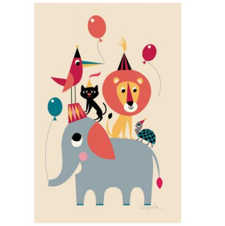 Ingela Animal Party poster 50×70