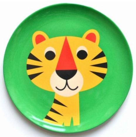 Ingela tijger eetbord melamine