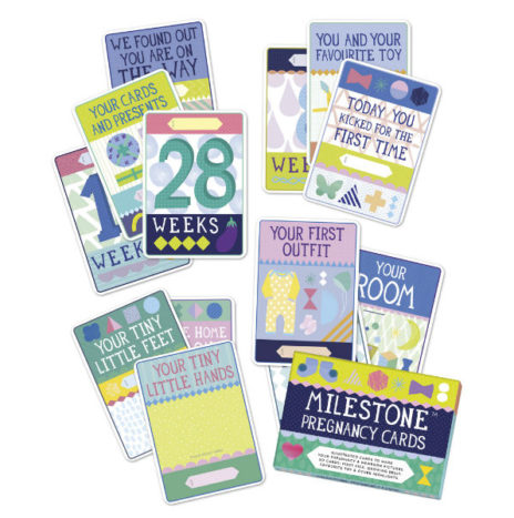 Set Milestone Pregnancy Cards EN