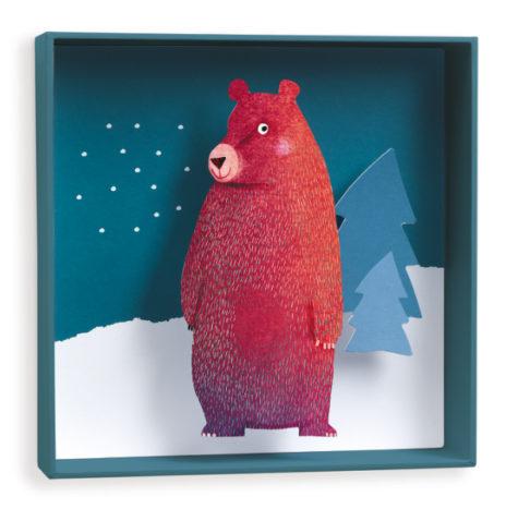 Djeco 3D schilderij lieve beer