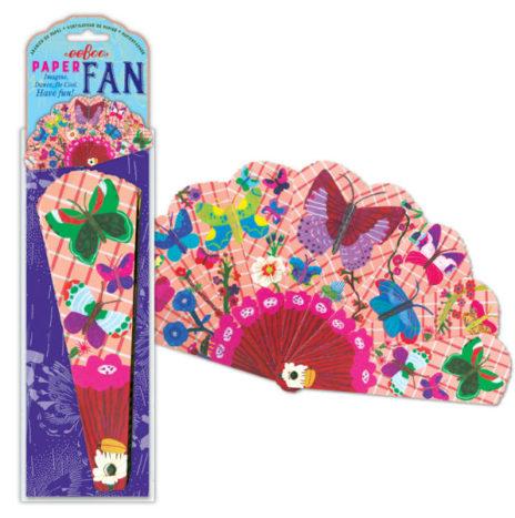 Eeboo Waaier van papier met vlinders en bloemen vanaf 3 jaar