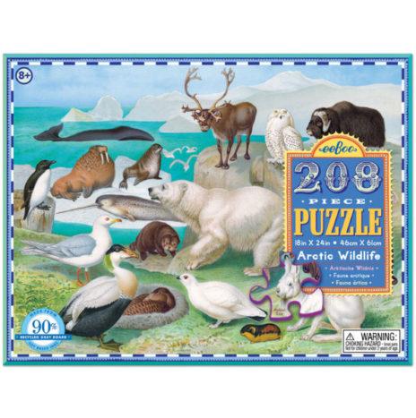 Eeboo puzzel Artic wildlife 208 puzzelstukken 8 jaar