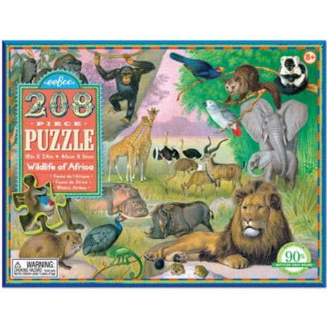Eeboo puzzel Wildlife of Africa 208 stuks vanaf 8 j