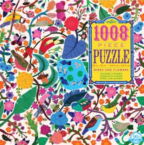 Eeboo puzzel vogels en bloemen 1008 stuks vanaf 10j