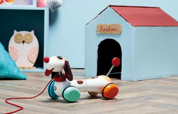 Kidsdinge Vilac Houten hond trekfiguur