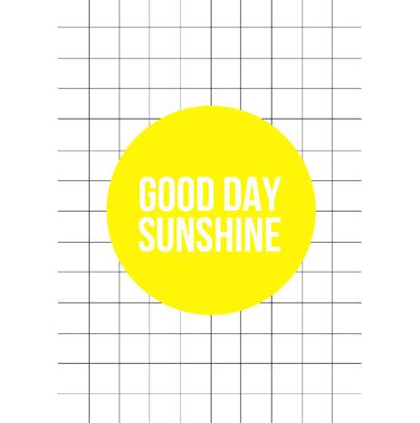 Good day sunshine wenskaart enkel