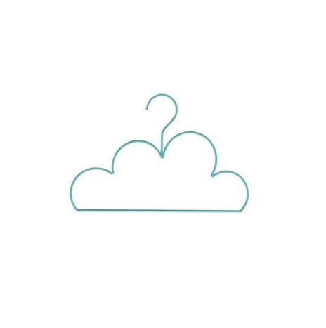 Mini wolk kledinghanger mint