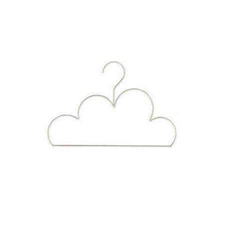 Mini wolk kledinghanger wit