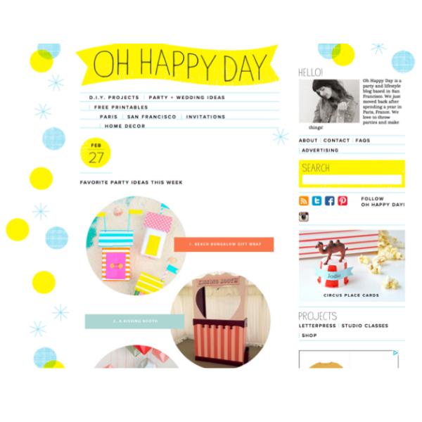 Kidsdinge Blog Oh Happy Day