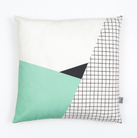 Kussenhoes geometrische en mint pastel prints 50×50