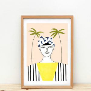 Poster palm girl A3