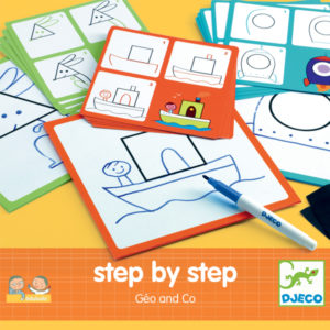 Djeco Step by step tekenset Geo & Co